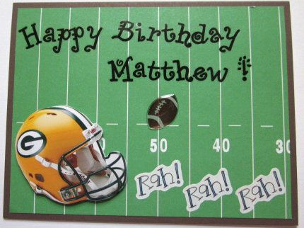 Bays Green Bay Packers And Birthday Cards On Pinterest