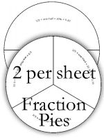 fraction circles- free printables We make fraction strips
