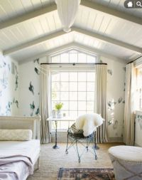love the vaulted panel ceiling | Shiplap/ clapboard ...