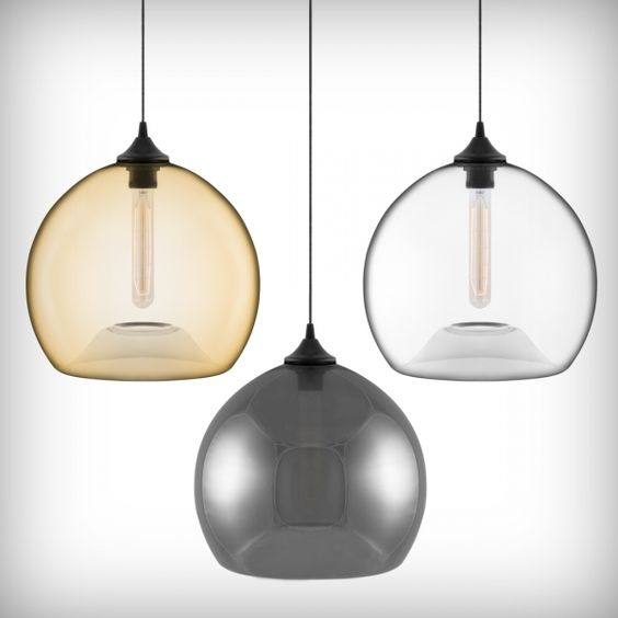 Edison Bulbs + Glass Pendant Lights