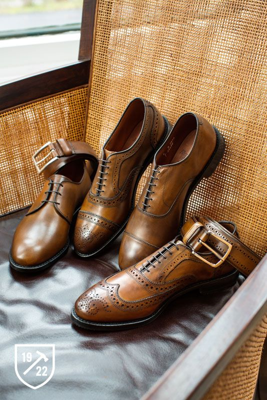 Kenilworth in Bourbon - Plain-toe Lace-up Oxford Men's Dress Shoes:
