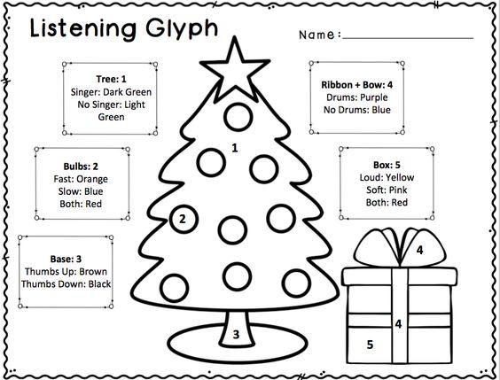 Elementary music, Glyphs and Worksheets on Pinterest
