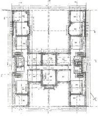 H-shaped House Floor Plans | Original 2nd Floor Plan of ...