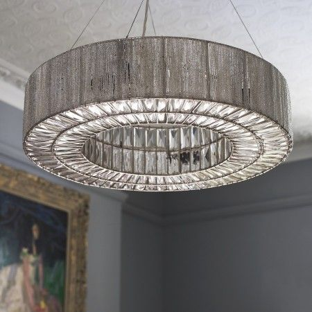 Silver ring statement ceiling light