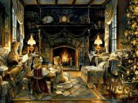 Winter Christmas Home Hearth Cozy Animated Fireplace ...