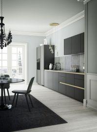 Black, Grey & Gold Colors in a Sleek, Modern Kitchen | # ...