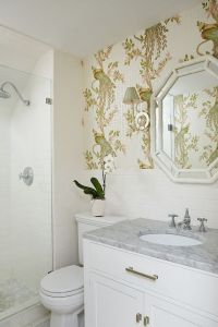 Bamboo mirror, Bathroom wallpaper and Mirror vanity on ...