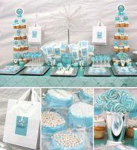 Tiffany blue baby shower...I know it's not a birthday ...
