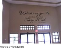 Scriptures, Wall stickers and Bible verses on Pinterest