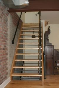 Rustic contemporary, Open staircase and Stairs on Pinterest