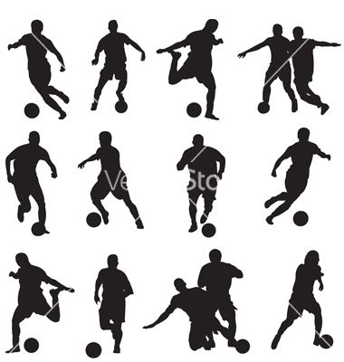 Soccer players, Silhouette and Soccer on Pinterest