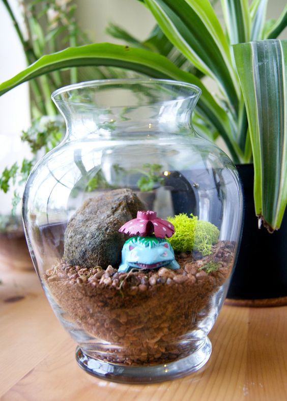 Venusaur Pokemon Habitat Terrarium Maintenance Free Home Decor