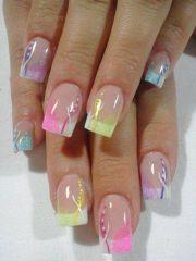 french tip nail design nails