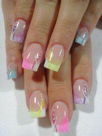 French Tip Nail Designs | NAiLS *ACRYLiC FRENCH TiP | Nail ...