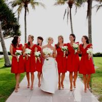 Beach wedding, short #Red #Bridesmaid #Dresses  For an ...