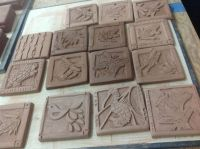 Carving out on tile slabs | clay art lesson | Pinterest ...