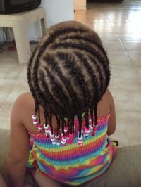 Mixed hairstyle beads and braids | Hairstyles for mixed ...