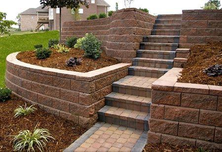 driveway slope retaining wall