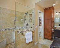 Walk In Shower with half wall and half glass | bathroom ...