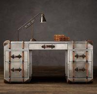 Richards metal trunk desk by Timothy Oulton at Restoration