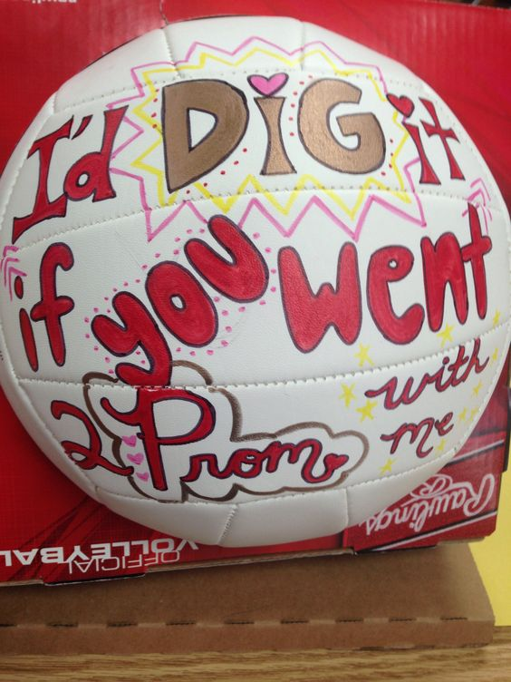 VolleyBall Player Prom Proposal Prom Proposals