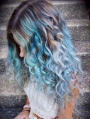 pastel hair and blue
