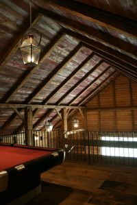 Reclaimed crackled red barn wood ceiling boards | Old Red ...
