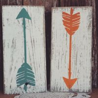 wooden arrow decor nursery decor home decor mint rustic ...