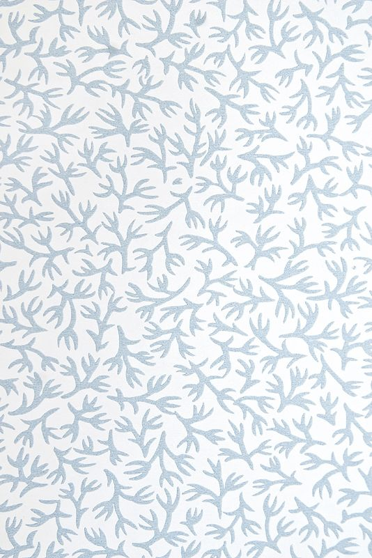 Ivy Wallpaper White Wallpaper With Very Pretty Light Blue