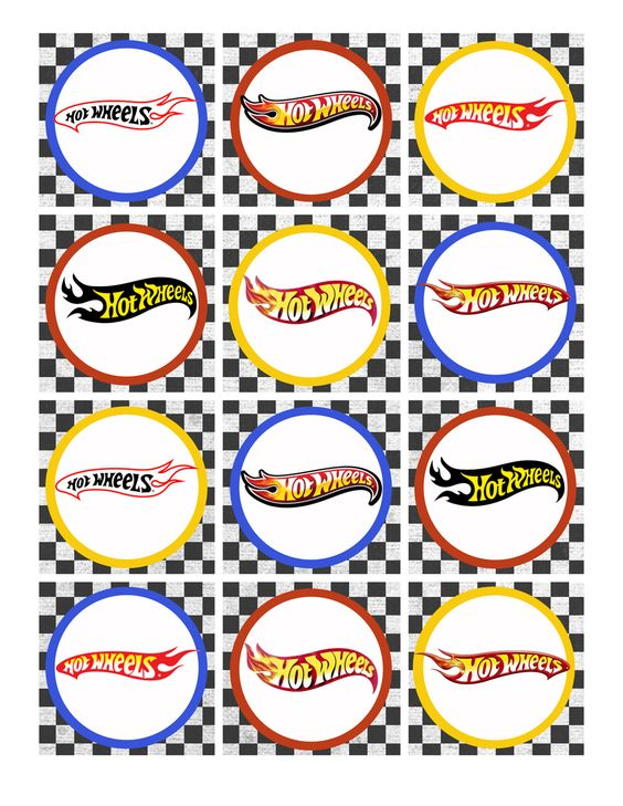 Hot Wheels Birthday Party Pack Free Printables: