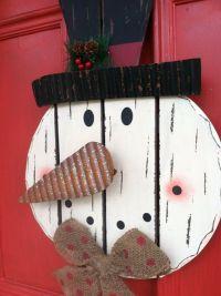 Shabby Chic Snowman Door Decor, FROSTY the Snowman Decor ...