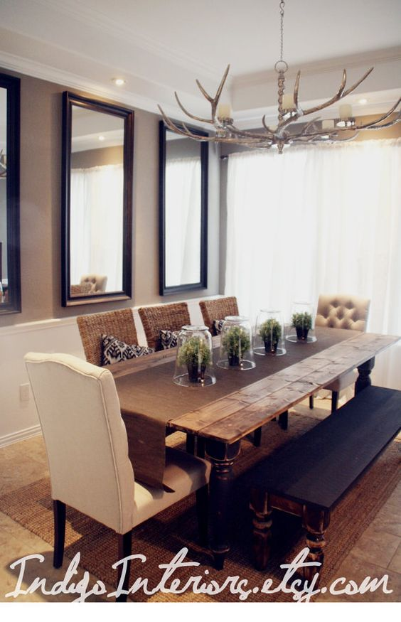 Dining rooms Wood planks and Dining room tables on Pinterest