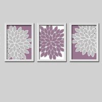 Lime Green And Purple Wall Art - huge abstract canvas ...