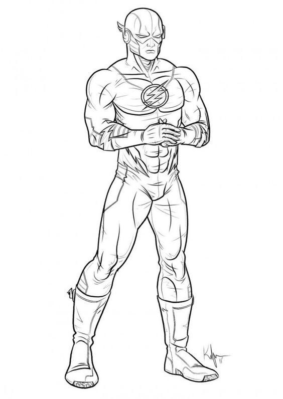 Flash Superhero Coloring Pages Www Stepathon Org Coloring