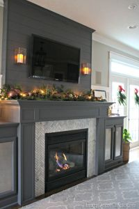 A gorgeous fireplace transformation! | Best of Pinterest ...