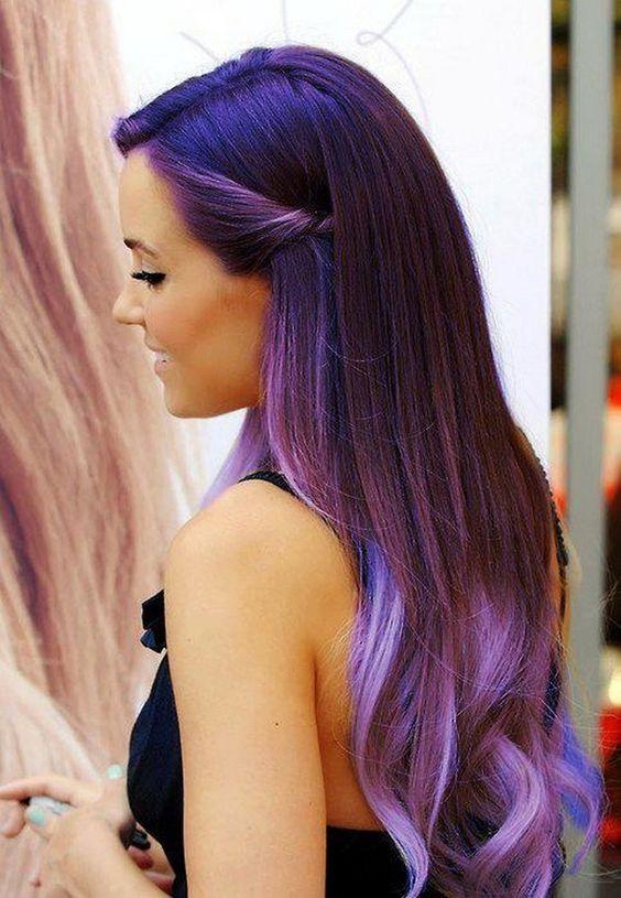 Purple hair: