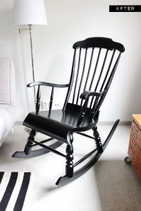 Rocking chair makeover, Rockers and Black white nursery on ...