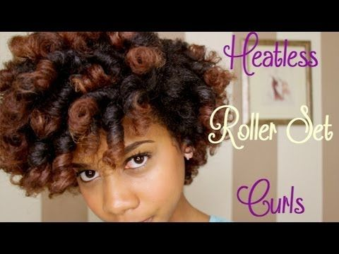 4 ways to create heatless curls black women natural hairstyles roller set and natural hair
