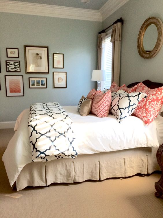 Guest rooms Bedroom ideas and Wall colors on Pinterest