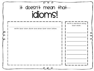 Idioms, First grade and Facts on Pinterest