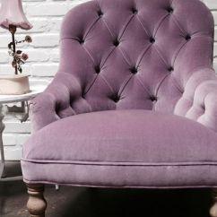 Velvet Tufted Chair Swingasan Ikea Shabby Chic Lilac