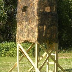 Swivel Chair Tree Stand How To Decorate A Baby Shower Homemade Box Deer Hunting Blind Building Plans. I'll Make This During The Summer(: | Country ...