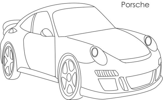 Super car, Coloring pages for kids and Porsche on Pinterest