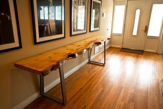 Live Edge Redwood softwood Dining Table or Large Desk