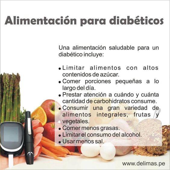 Alimentos para diabeticos  Consejos de salud para la