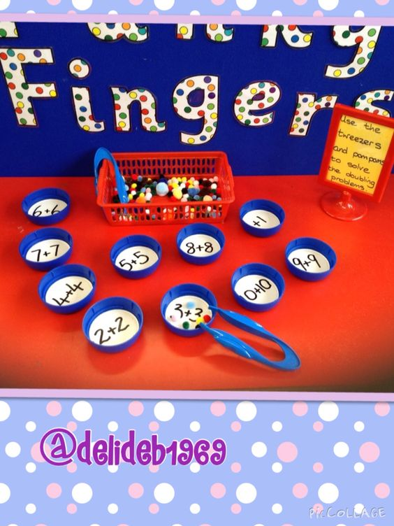Doubling Activity For Funky Fingers Table Early Years
