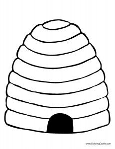 bee skep coloring pages and bees