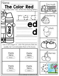 Color Word Practice and TONS of other printable for ...