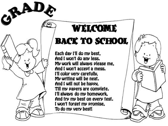 Back to school poem, Back to and Summer poems on Pinterest