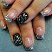 silver tip nails and tips